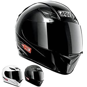 AGV K3 Full Face Motorcycle Helmet (Matte Black, X-Small)