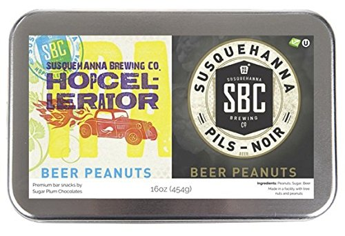 Edley Gourmet Nuts Gift Tin, 1 Pound Craft Beer-Infused Peanut Duo, Perfect as a Thank You Gift or for Any Occasion, Small-Batch Kettle Roasted For Superior Freshness, Nuts Never Tasted This Good (Beer As A Gift)