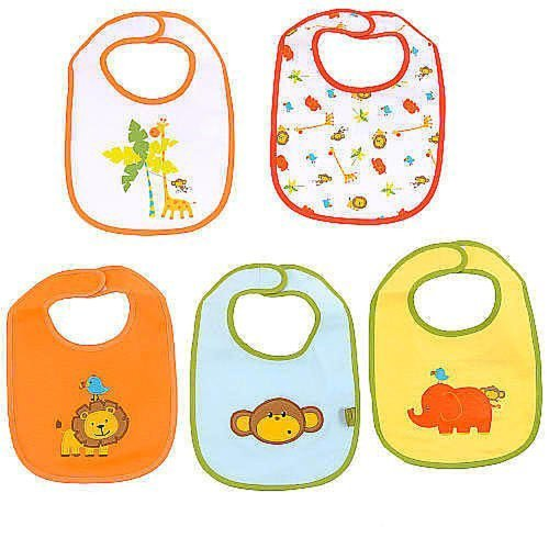 Koala Baby 5-Pack Bibs - Jungle