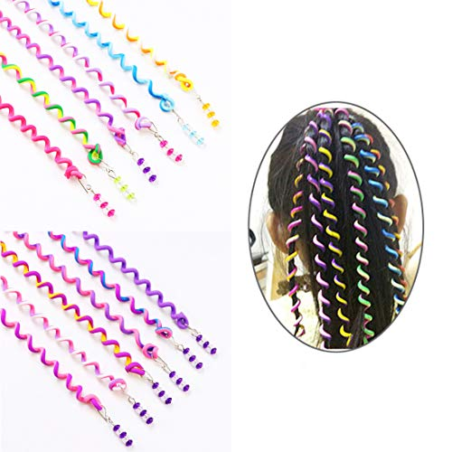 ThEast 12PCS Girls Hair Styling Twister Clip Women Hair Braider DIY Tool Accessories (B)