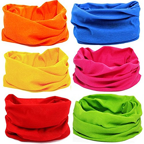 KALILY 12-in-1 Headwear Head Wrap Sport Headband Sweatband 220 Patterns Magic - Select How Goggles To