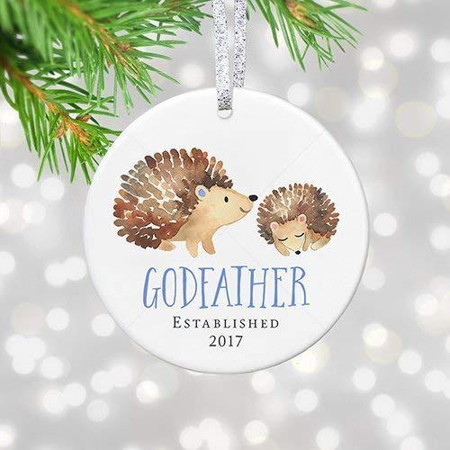 Amazon.com: Godfather Christening Gift, Godfather Christmas Ornament ...