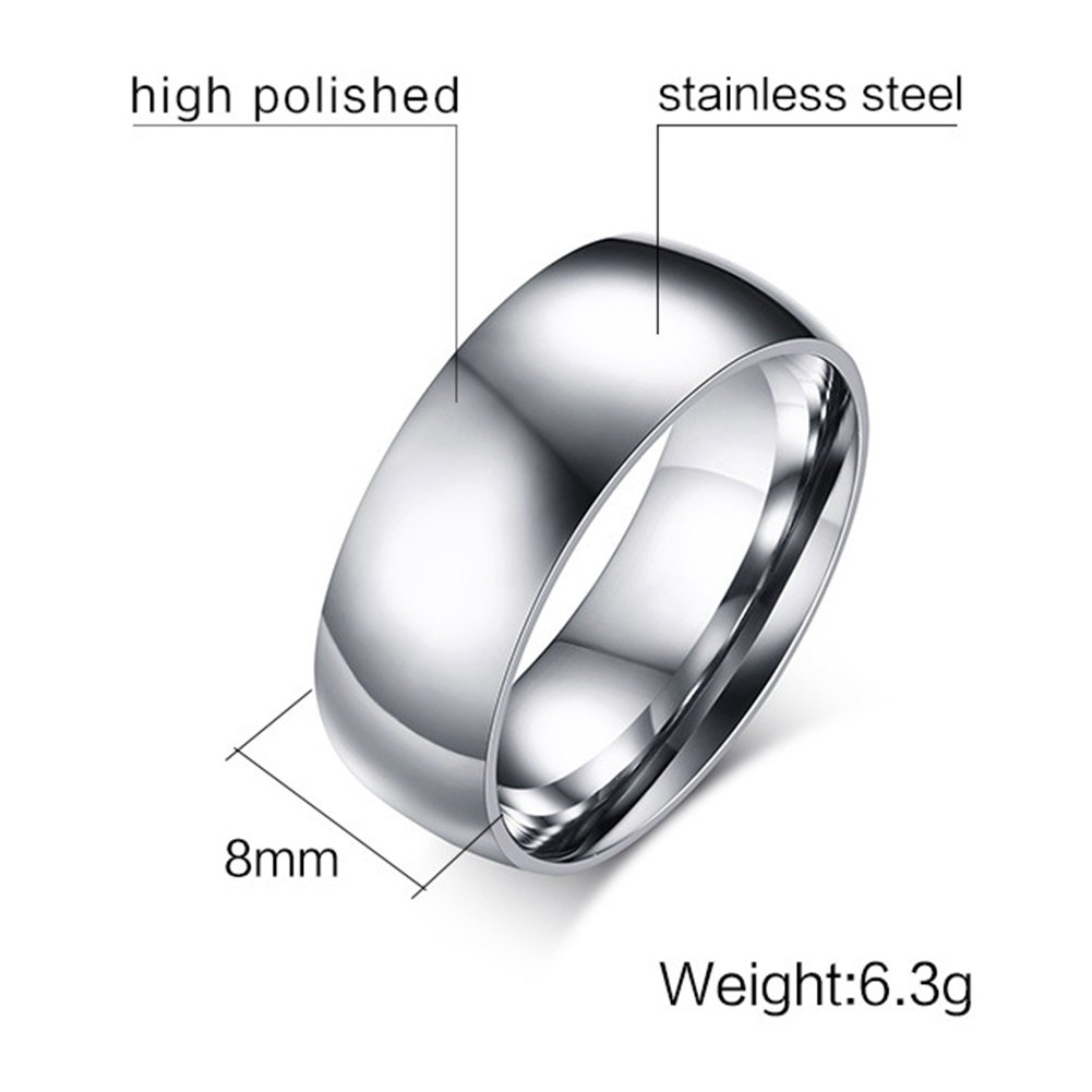 SAINTHERO Mens Womens Forever Love Promise Couples Rings for Him or Hers Classic Titanium Steel Wedding Engagement Bands Size 4-15