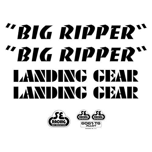 Se Bikes Big Ripperデカールセット B07B8YGNFL ブラック ブラック