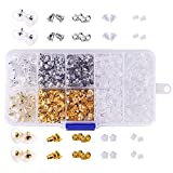 (US) WXJ13 Earring Back Kit Earring Safety Backs , 10 Styles Earring Backs for Safety, 1040 Pieces