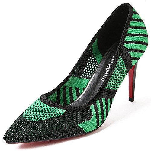 Scarpe Da Donna Con Tacco A Spillo A Punta Tacco Alto Vintage A Punta Nuda Per Party Green