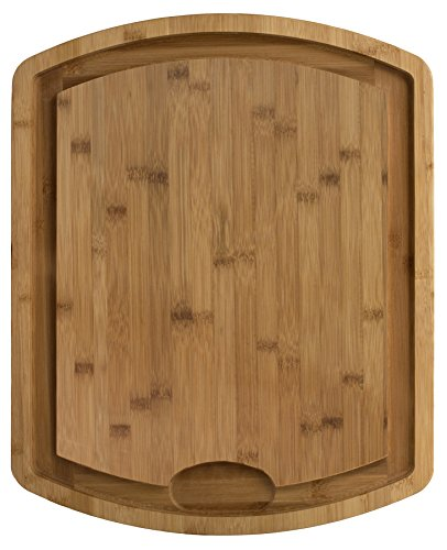 Totally Bamboo Farmhouse Bamboo Carving and Cutting Board, 19-1/2
