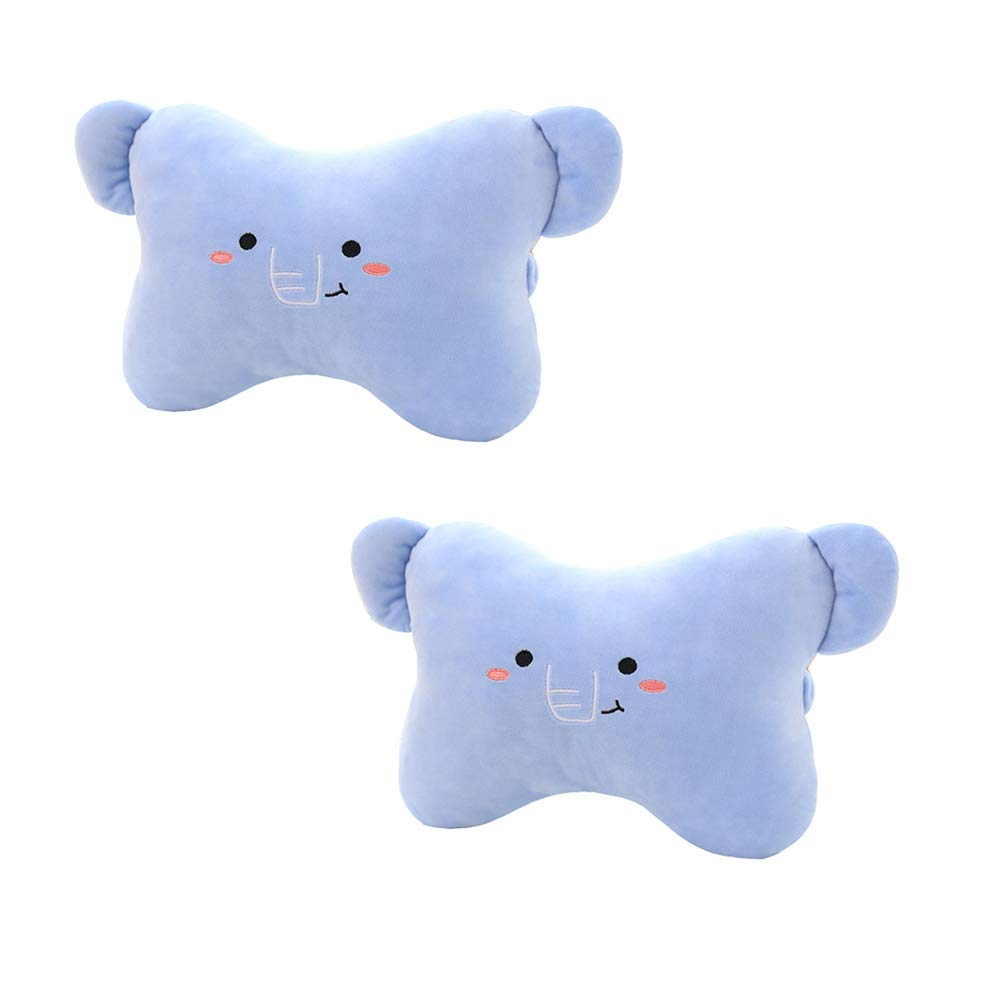 Cute Elephant Car Neck Pillows Car Headrest Cushions 2PCS