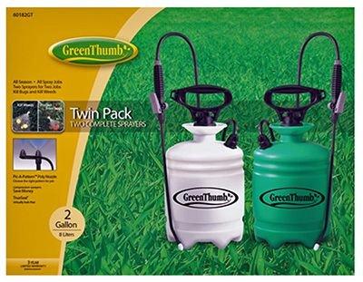 HD Hudson 60182TGT Thumb Sprayer, 2-Gallon, Green, 2-Pack