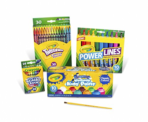 Crayola Marker Crayon and Paint School Pack -