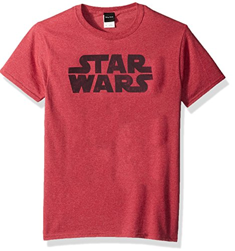 Star Wars Men's Simplest Logo Graphic Tee, RED Heather, Large