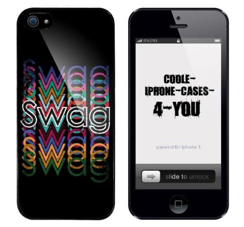 Iphone 5 / 5S Schutzhülle Swag Colourmix - schwarzer Rahmen