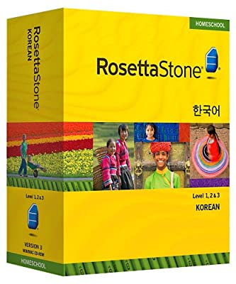 Rosetta Stone Homeschool Korean Level 1-3 Set including Audio Companion
