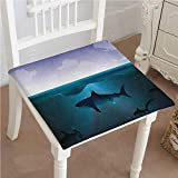 Best Atlantic gamer - Mikihome Chair Pads Classic Design Sharks Swimming in Review