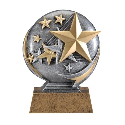 Resin Award Plaque (Stars Motion 3D Resin Trophy - Sales Achievement Award - Thank You - Recognition Award for any Event - Decade Awards)