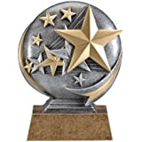 Stars Motion 3D Resin Trophy - Sales Achievement Award - Thank You - Recognition Award for any Event - Decade Awards silver, gold