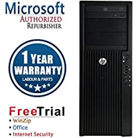 HP Z420 Workstation Business High Performance Tower Desktop Computer PC (Intel Xeon E5-1607 3.0G,16G RAM DDR3,120G SSD HDD,DVD,AMD Fire Pro W7000 4GB,Windows 10 Professional 64)(Certified Refurbished)
