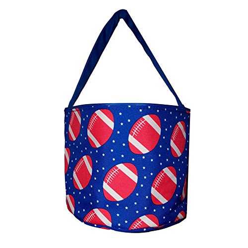 Personalized Childrens Fabric Bucket Tote Bag - Toys- Easter (Blank, Football)
