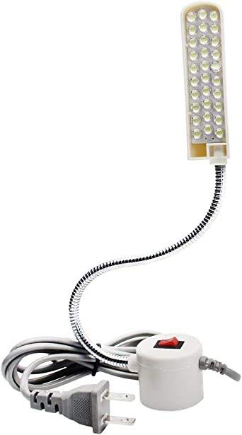 Rowrun - Lámpara LED para máquina de coser (cuello de cisne, 30 ...