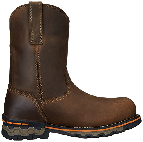 PRO Boss Alloy Work Leather Men's Brown Boot Pull and Hunt Timberland Waterproof Distressed Toe AG On BdxtntqT