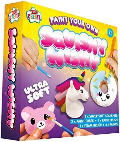 Kids Create Paint Your Own Squeezable Squishy Wishy Squishies Bear Unicorn Doughnut Kids Childrens 8+
