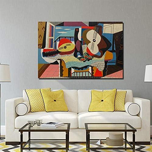 Chihie Pablo Picasso Mandolina y Guitarra Lienzo Pintura Carteles ...