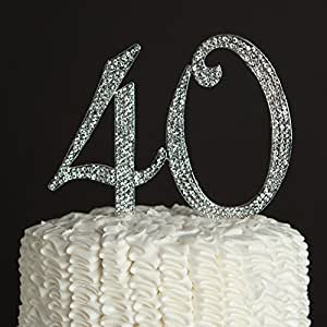 40th birthday cake toppers ella celebration 40 cake topper for 40th 1116
