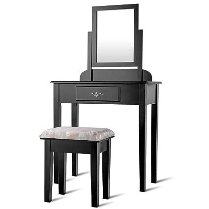 Amazon Com Makeup Desk Vanity Dressing Table Set Storage Cabinet
