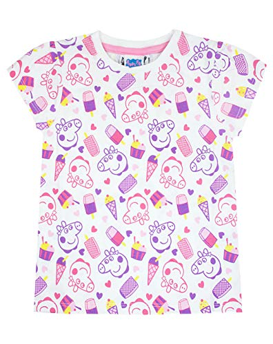 Peppa Pig Childrens Girls All Over Print T-Shirt (2-3 Years) (White)