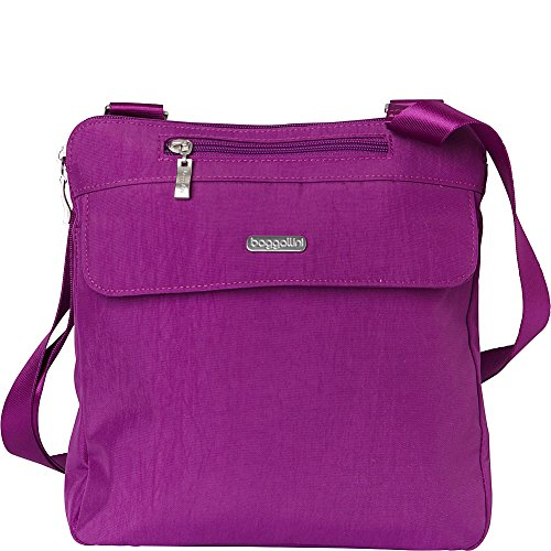 baggallini RFID Synergy Flap Crossbody - Exclusive (Magenta) (Body Cross Flap Large)