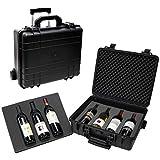 T.Z. Case International T.z 7-Bottle Wheeled Wine Case, Molded Polypropylene, Black