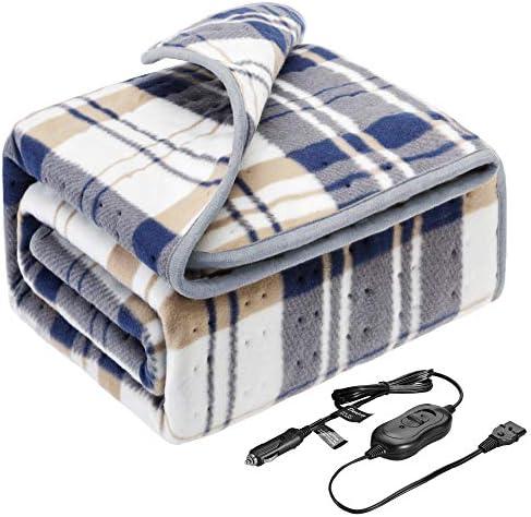 Elantrip12 Volt 8A,45W Machine Washable Electric Heated Blanket