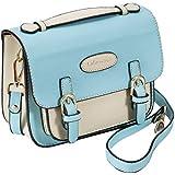 Mini 9 Instant Camera Accessories Case - Lalonovo Retro Vintage PU Leather Bag for Fujifilm Instax Mini 9/Mini 8/Mini 25/Mini 50s/Mini 90/Mini 9 Instant Film Camera with Shoulder Strap (Blue)