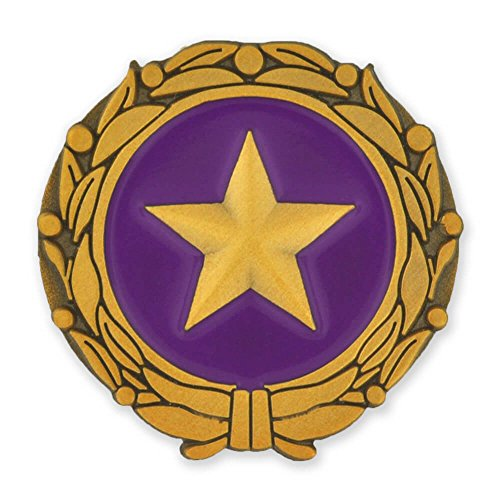 (PinMart Gold Star Military Surviving Spouse Pin Enamel Lapel)
