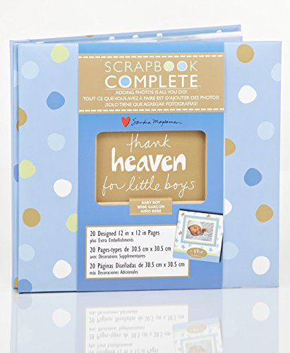 Complete 12 X 12 V Scrapbook for Boys - Just Add Pictures - ''Thank Heaven for Little Boys''