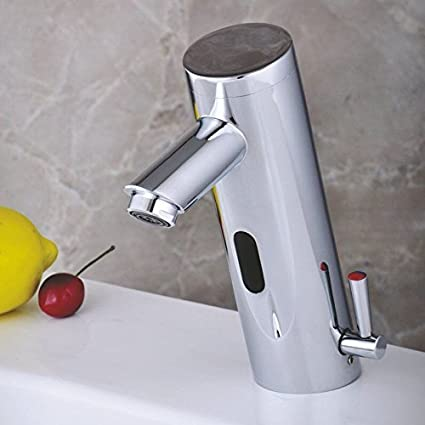 Home Deck Mount Touch Free Automatic Sensor Sink Faucet With - Touch free kitchen faucet