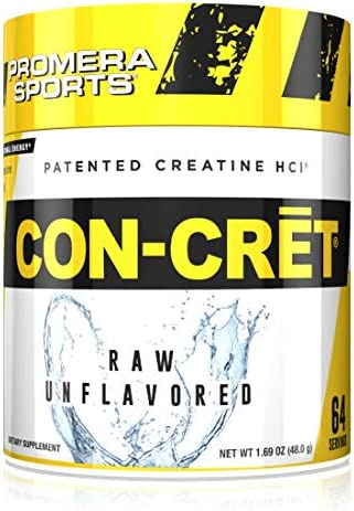 Promera Sports, CON-CRET Creatine HCl Powder, Micro-Dose Creatine, No Bloating, No Upset Stomach, No Water Retention, No Loading, Made in USA, Gluten-Free, Unflavored, 64 Servings