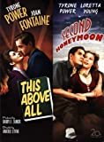 This Above All DVD (1942) Tyrone Power - Joan Fontaine / Second Honeymoon (1937) Tyrone Power Double Feature Movie