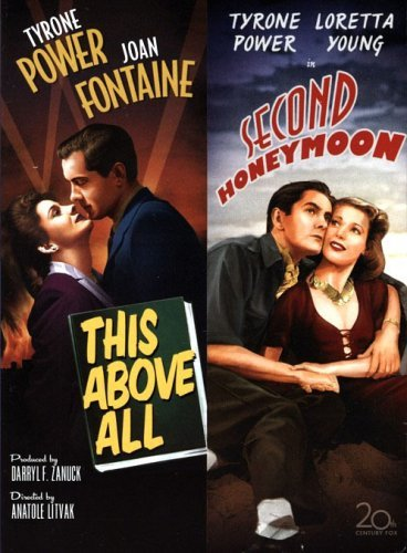 This Above All DVD (1942) Tyrone Power - Joan Fontaine / Second Honeymoon (1937) Tyrone Power Double Feature Movie by Cinema Classics Collection