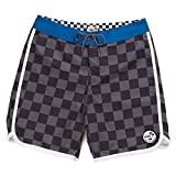 Best Van'an Mens Swimwear - Vans Men's Planetary Checkered Board Shorts (Checkered) Grey-Black/Blue Review