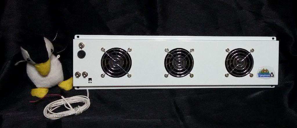 """15"""" Triple Fan Deluxe RV Refrigerator Evaporator Fan w/ LED light & Grill RV Cooling Unit Warehouse"""