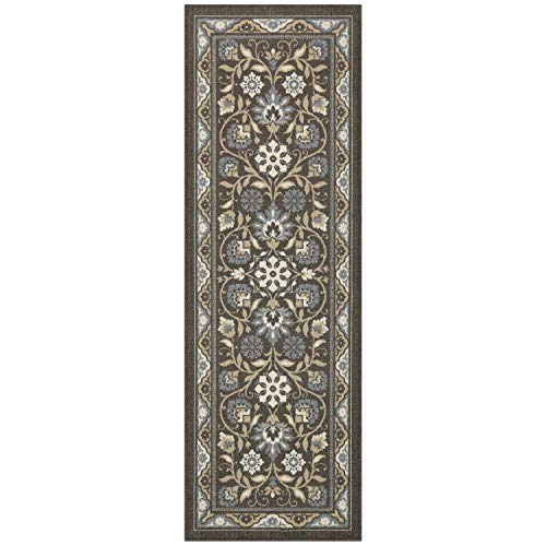 - Maples Rugs Runner Rug - Florence 2 x 6 Non Skid Hallway Entry Rugs Runners [Made in USA] for Kitchen and Entryway, Light Brown