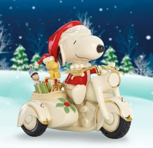 PEANUTS Snoopy on Motorcycle Figurine by Lenox