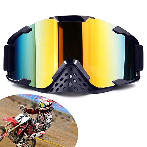 XYOP Motorcycle Goggles,ATV Goggles Motocross,Dirt Bike Goggles Helmet,Bendable OTG Frame Goggles Windproof Racing Goggles Off Road,100% Goggles UTV Nose Guard,Wrap Ski Goggles