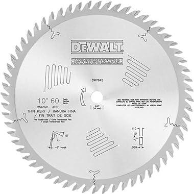 DEWALT DW7645 60T Fine Crosscut Blade (-5 Hook), 10-Inch