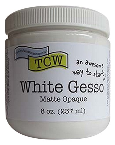 Crafters Workshop TCW9001 Gesso 8oz-White by CRAFTERS WORKSHOP