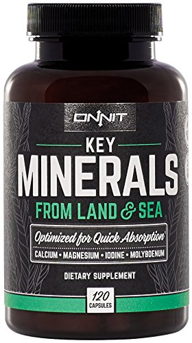 Cheap Onnit Key Minerals – Magnesium, Calcium, Molybdenum & Iodine Supplement (120ct)