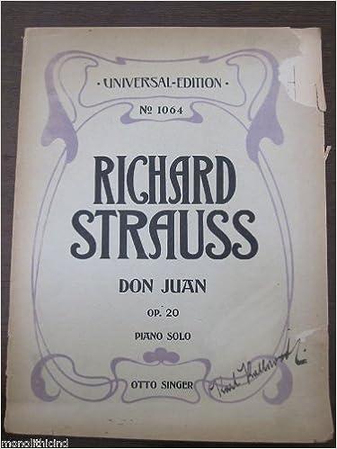 Richard Strauss - Don Juan -Piano Solo Transcription: RICHARD