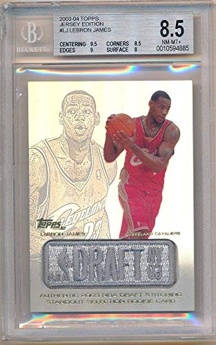- BIGBOYD SPORTS CARDS Lebron James 2003/04 Topps Jersey Edition Rookie Draft Logo Patch BGS 8.5 NM-MT+