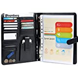 #1 Top Rated Executive Resume Padfolio & Portfolio -Best Tools for Interview, Job & Business -Free Gifts - Holds Removable 3 Ring Presentation Folders, Phone, Legal Pad, Pockets -Perfect Faux Leather Office Folio Organizer & Professional Documents Binder Case